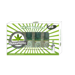 5PACK --- CANNAPRESSO – CBD Water 10ml Natural Flavor (10mg=500mg by vaping)